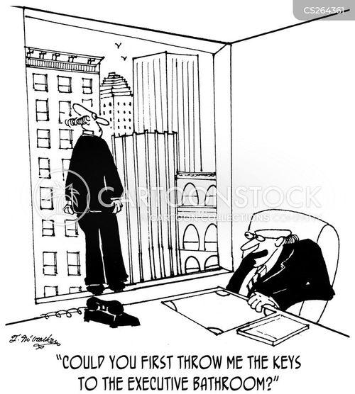 executive washroom cartoon