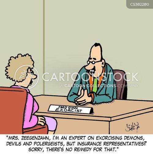 exorcise cartoon