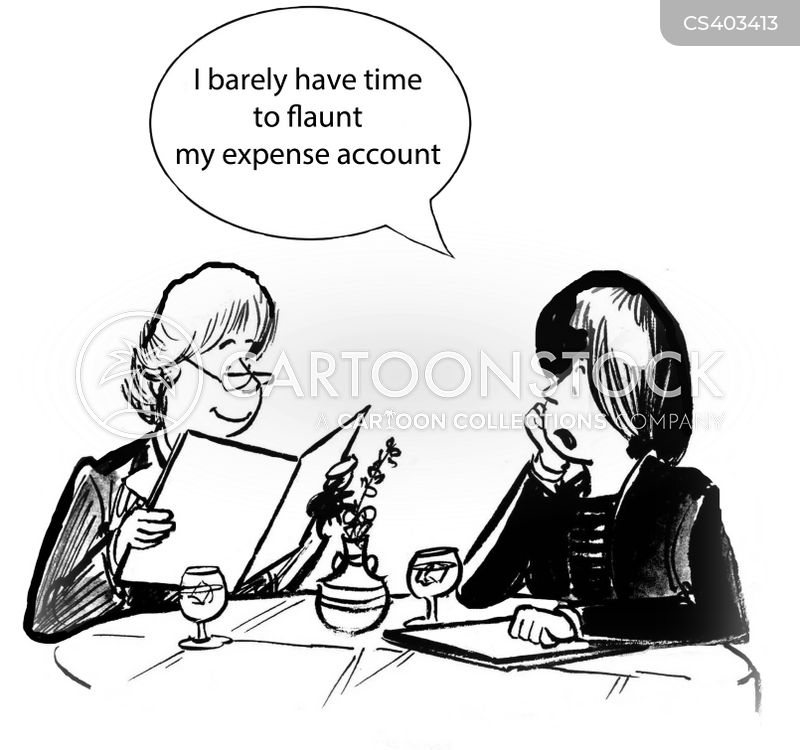 expense account cartoon