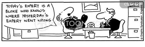 expert workers cartoon