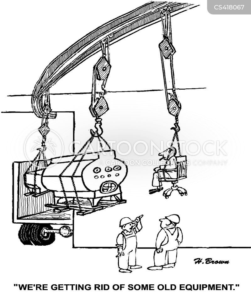 industrial equipment cartoon
