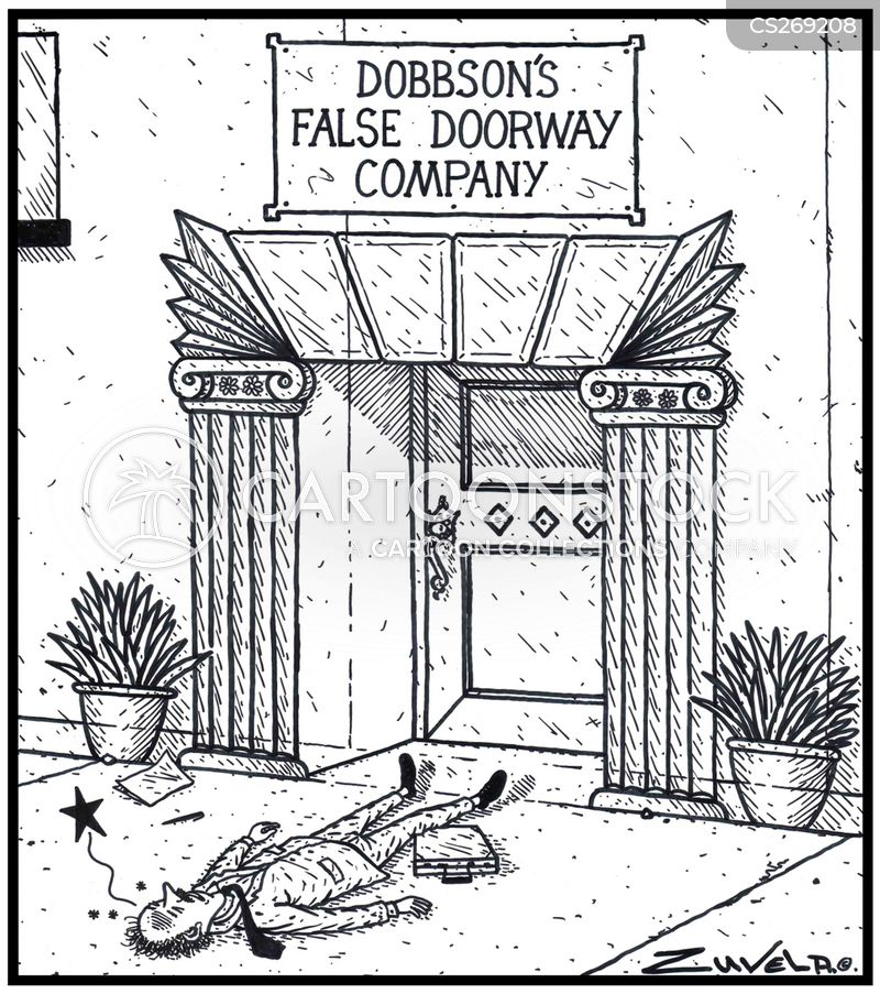 false doorway cartoon