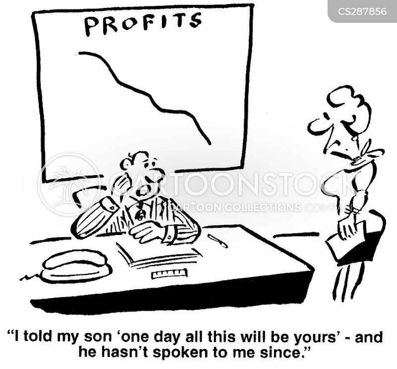 decreasing profits cartoon