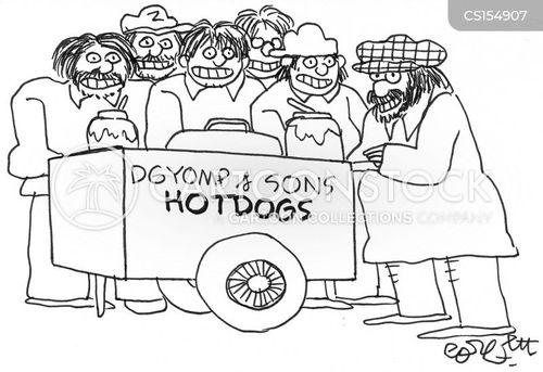 hotdog vendors cartoon