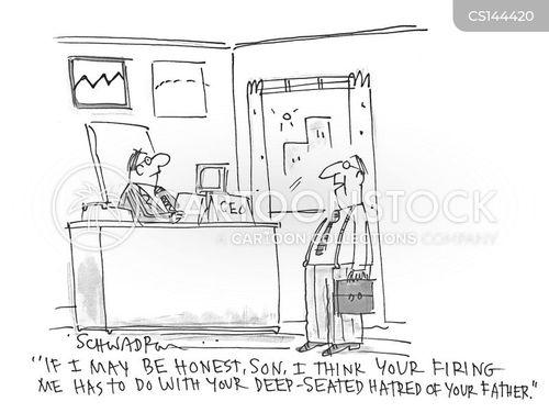 firing offence cartoon