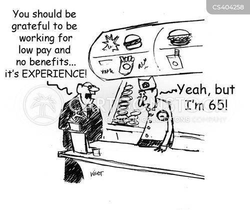 low pay cartoon