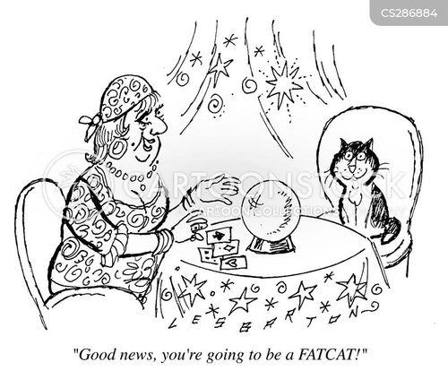 tarot reading cartoon