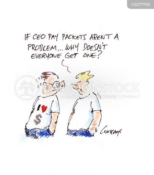 large salary cartoon