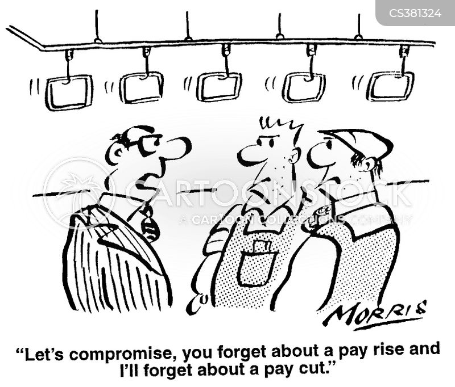 pay cut cartoon