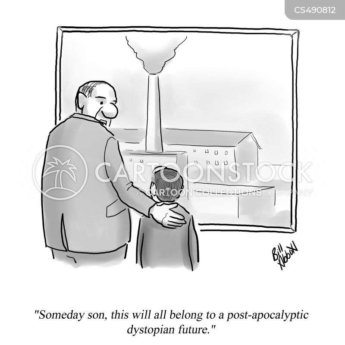 dystopian futures cartoon
