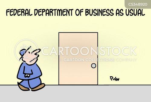 business as usual cartoon