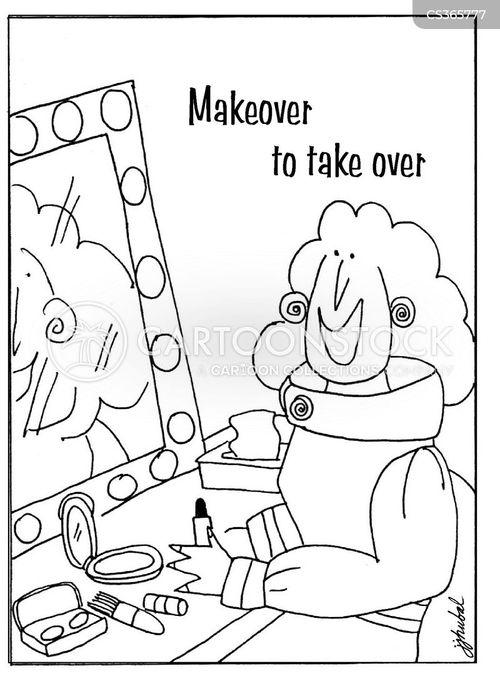 take overs cartoon