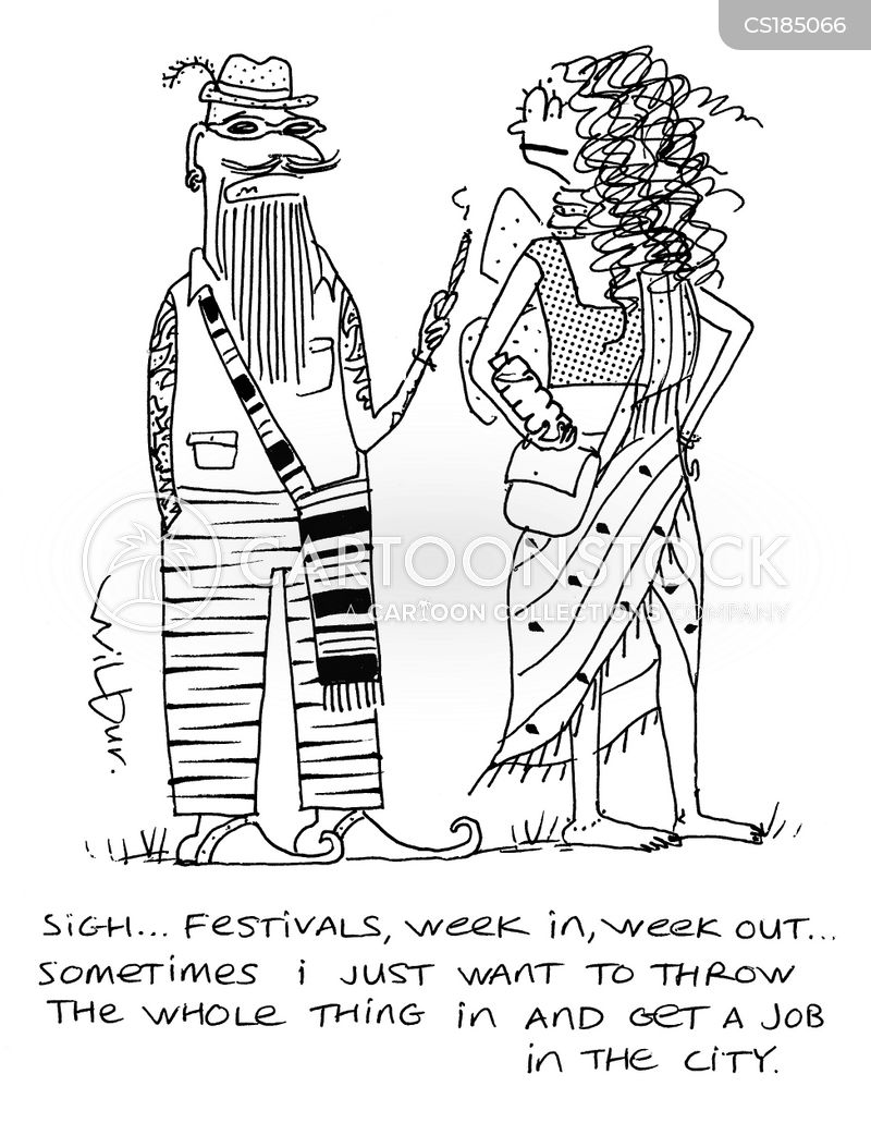 music festival cartoon