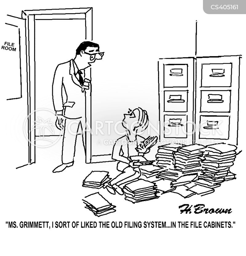 File Cabinet Cartoons And Comics Funny Pictures From
