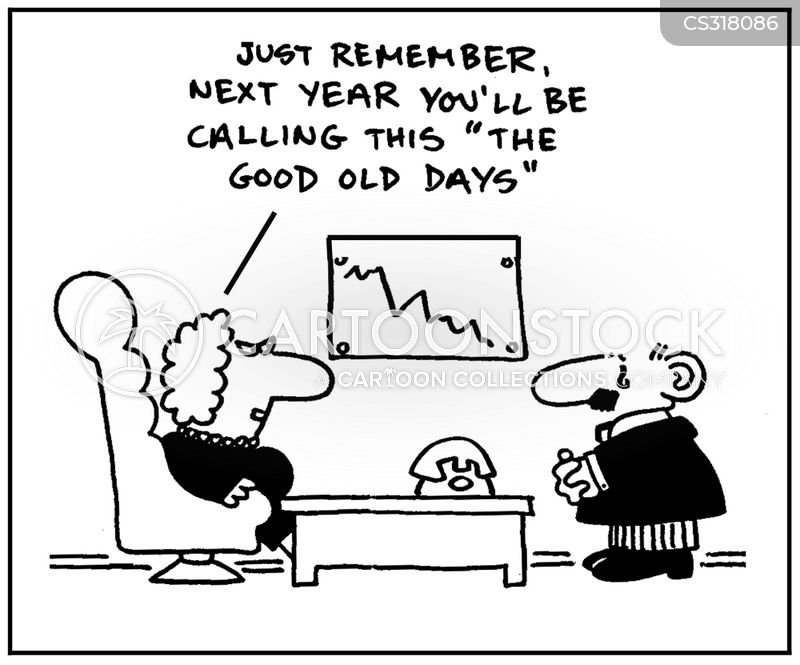 financial downturn cartoon