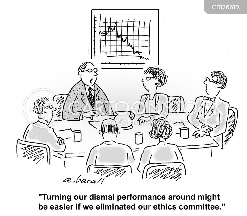 financial meeting cartoon