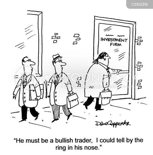 bullish cartoon
