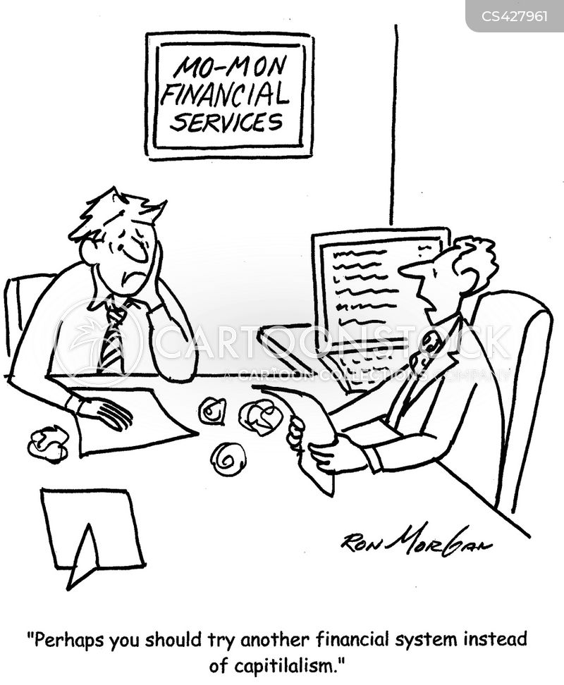 financial system cartoon