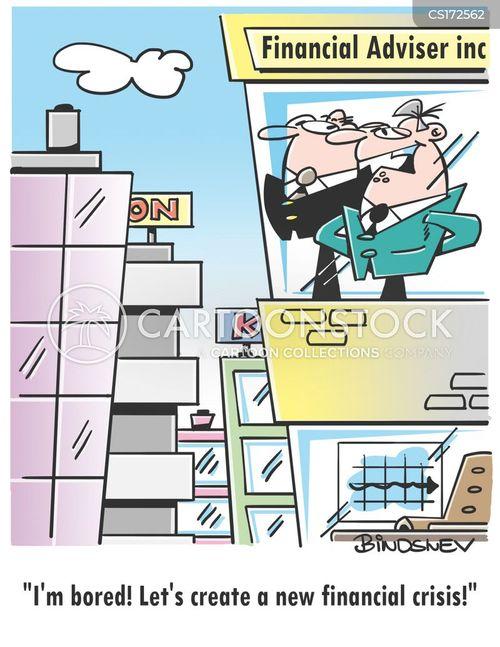 financial sector cartoon