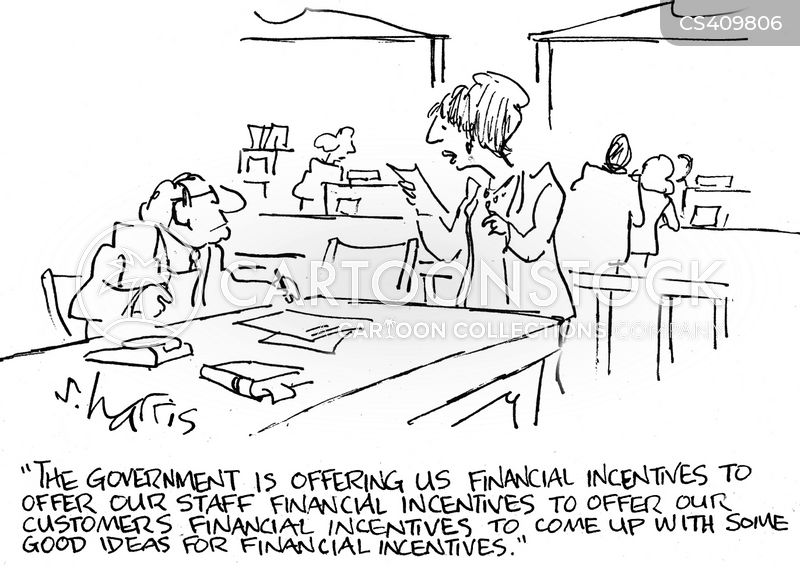 financial incentive cartoon