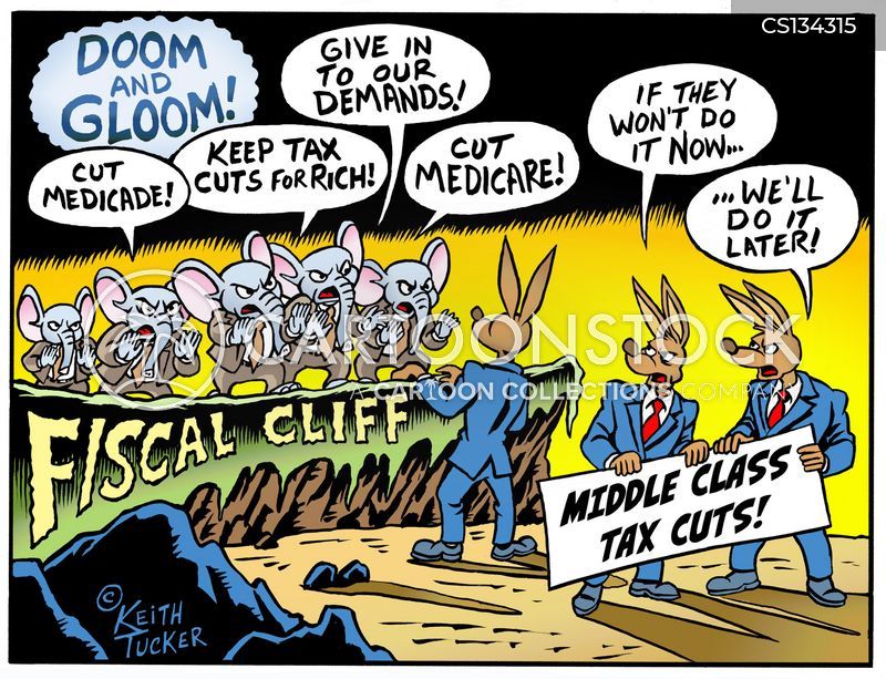 fiscal cliff deal cartoon