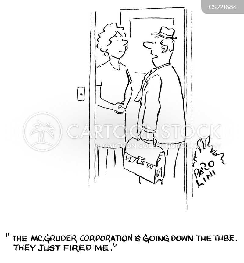 lost jobs cartoon