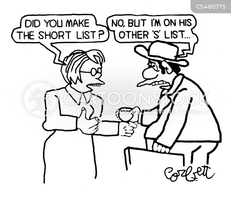short list cartoon