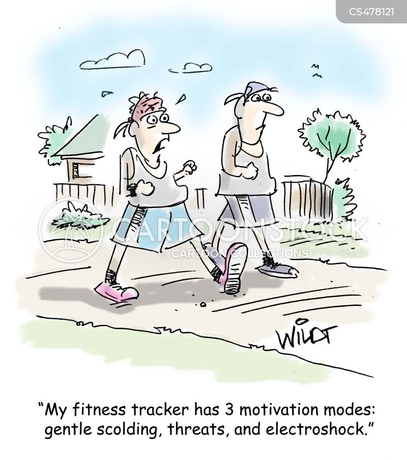 fitness coach cartoon