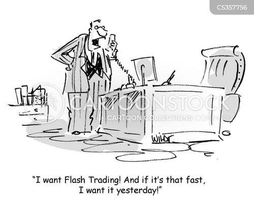 flash trading cartoon