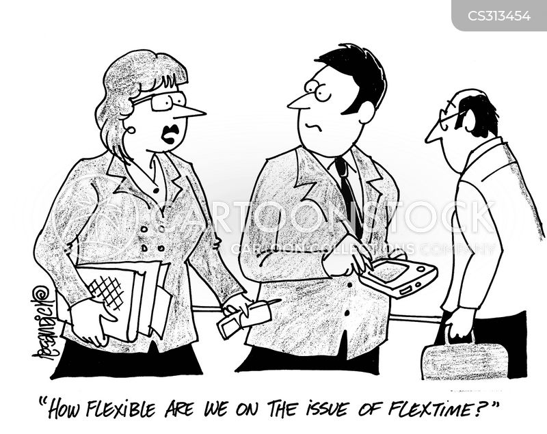 flextime cartoon