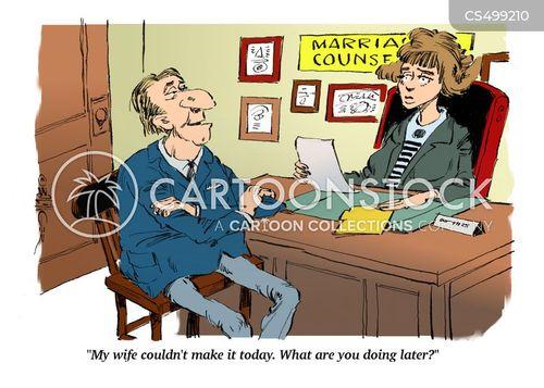 relationship counselor cartoon