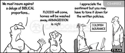 flooding insurance cartoon