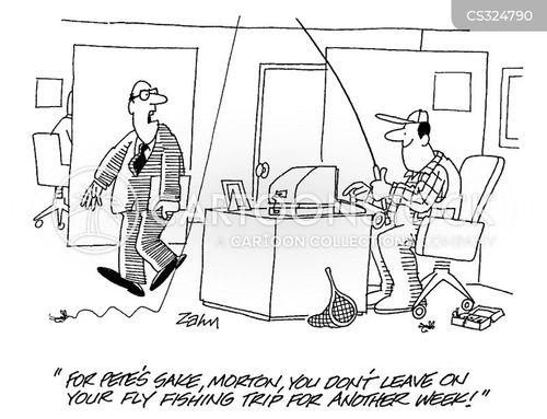 on leave cartoon