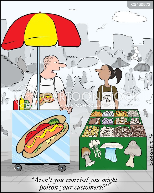 food poison cartoon