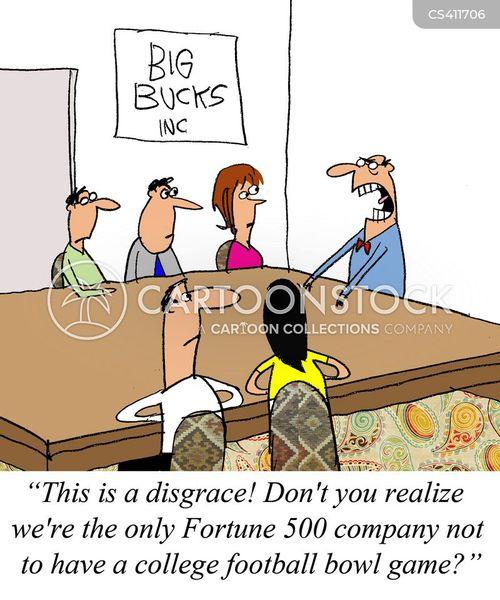 corporate sponsorship cartoon