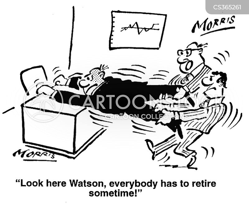 forced retirement cartoon
