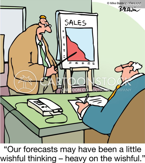 Cartoon – Forecasts Heavy on the Wishful | HENRY KOTULA