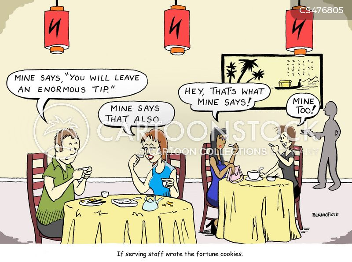 serving staff cartoon