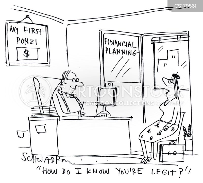 ponzi schemes cartoon