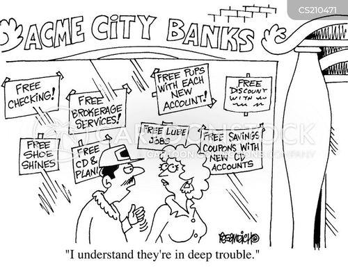 city banks cartoon