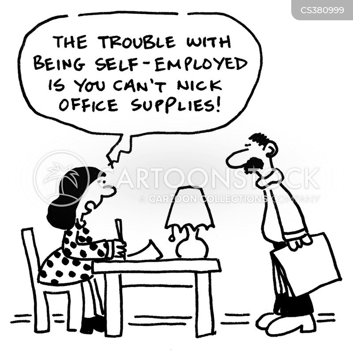 makeshift office cartoon
