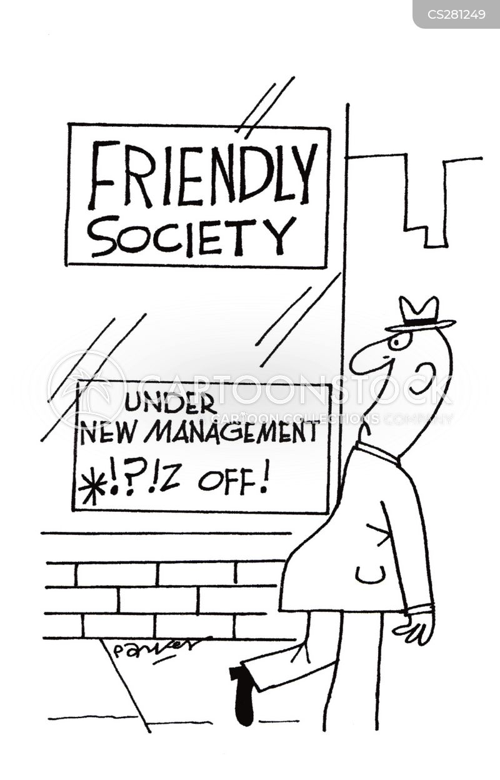 under new management cartoon