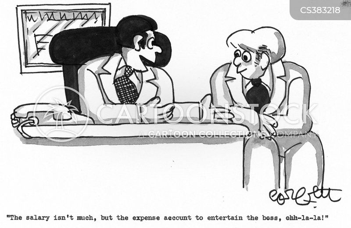 corporate entertaining cartoon