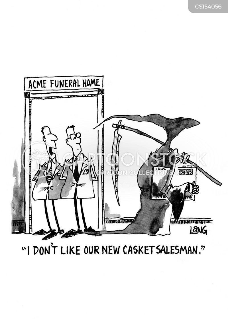 funeral arrangements cartoon