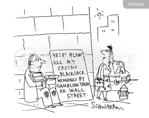 blackjack winnings cartoon