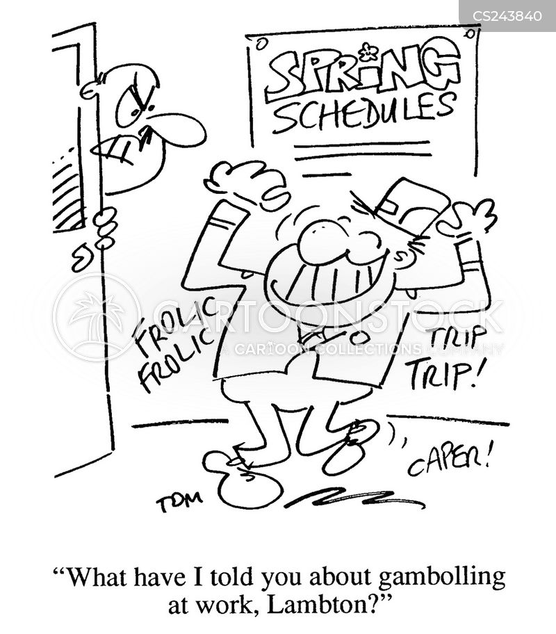 gambolling cartoon