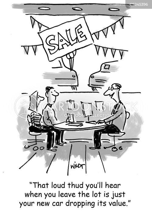 cars salesman cartoon