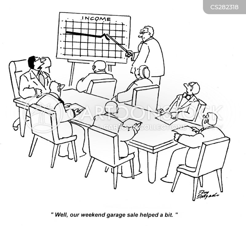 negative cash flow cartoon