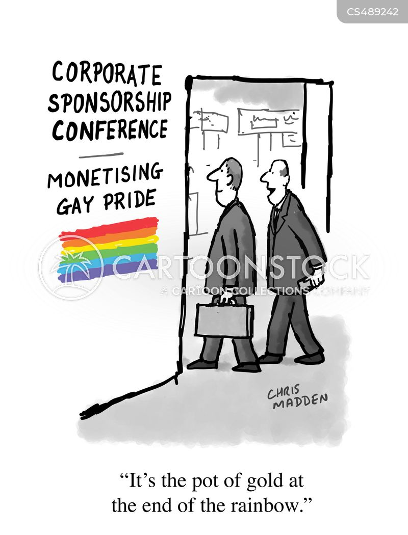 corporate sponsor cartoon