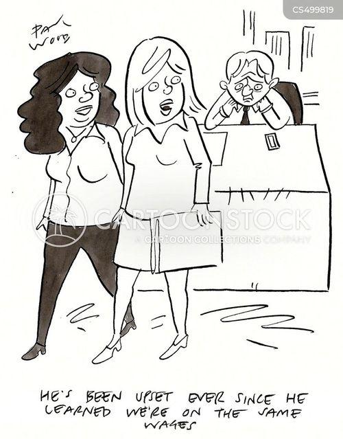 gender pay gap cartoon